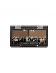 RIMMEL LONDON Rimmel Brow This Way Eyebrow Sculpting Kit 002 Mid Brown RIMMEL LONDON RIMMEL LONDON