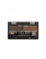 RIMMEL LONDON Rimmel Brow This Way Eyebrow Sculpting Kit 003 Dark Brown RIMMEL LONDON RIMMEL LONDON