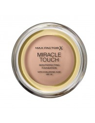 MAX FACTOR Max Factor Miracle Touch Skin Perfecting Foundation Spf30 045 Warm Almond MAX FACTOR MAX FACTOR