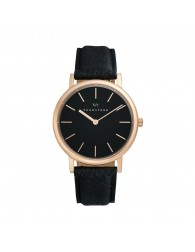 Sognatore Pure Black Rose Gold Ladies Watch / Mens Watch