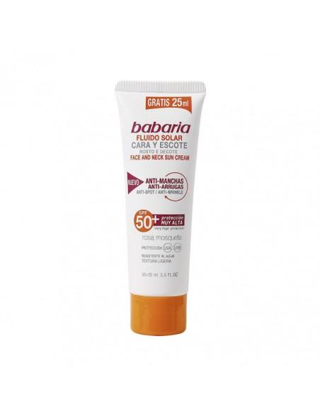 Babaria Face And Neck Sun Cream Anti Spot Wrinkle Spf50 75ml
