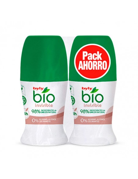 BYLY Byly Bio Natural 0% Invisible Desodorant Roll On 2x50ml