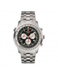 Montres Homme Swiss Alpine Military Pas cher Swiss Alpine Military 7078.9137SAM Montre Hommes Chronographe