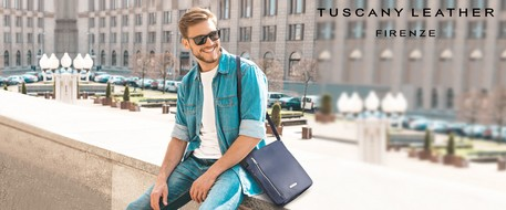 Cheap tuscany leather man bags
